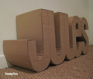 Prénom en carton