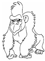 Trendy Giant Ape Printable Coloring Sheet