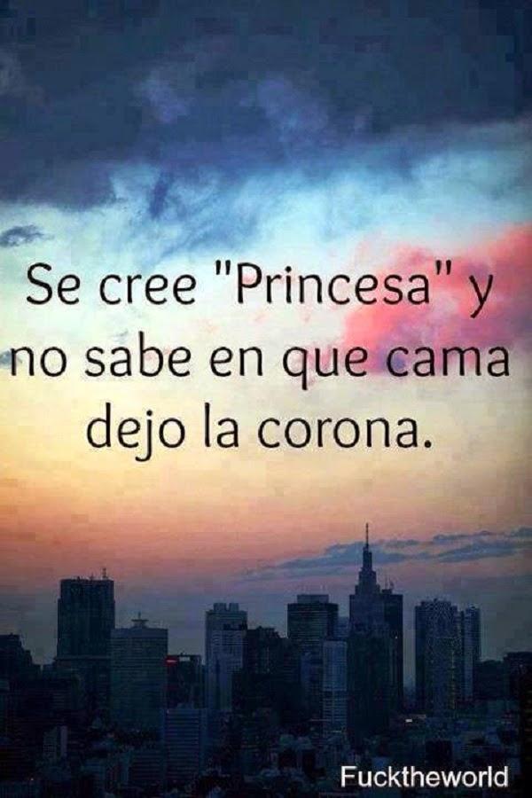 Se cree princesa