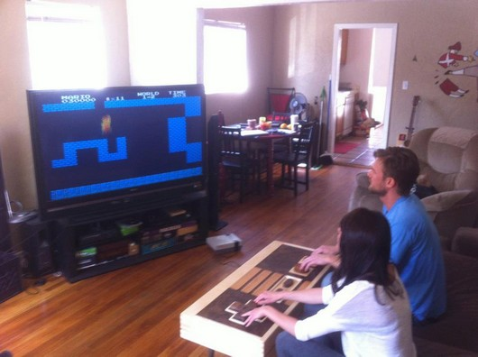 awesome, design, cool, nintendo controller coffee table, nes coffee table, cool design table, geek