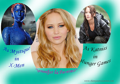 Jennifer Lawrence Mystique and Katniss