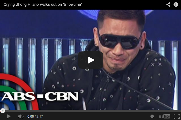 Crying Jhong Hilario walks out on 'Showtime' the Video