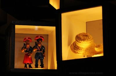 Miniaturas existentes no Jogo de Memória do espaço Nossas Coisinhas, no Museu da Gente Sergipana, em Aracaju - Sergipe