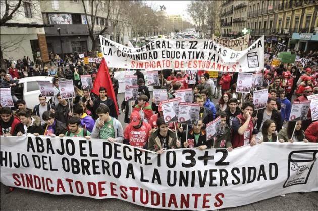 "Manifa del ""sindicato de estudiantes"""