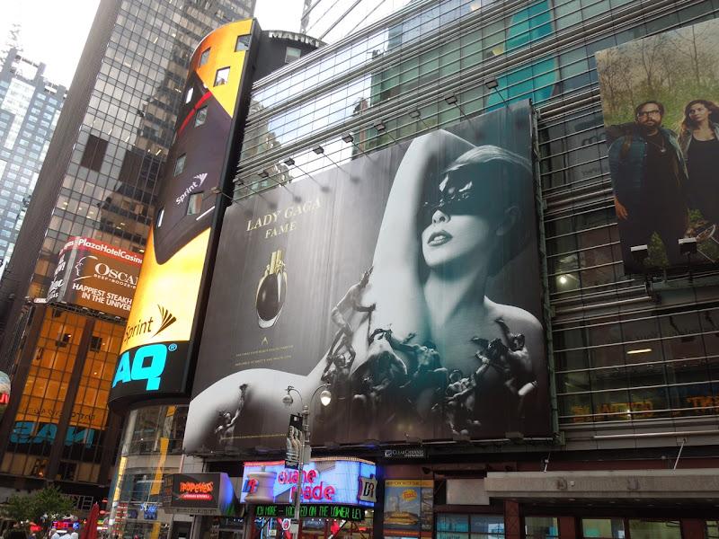 Lady Gaga Fame perfume billboard Times Square
