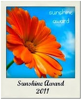 Sunshine award! Thanks so much!