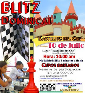 "BLITZ DOMINICAL EN EL ""KASTILLITO DEL CHESS"""