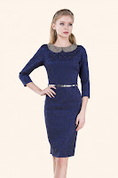 rochie-office-Dark Blue Sparkles