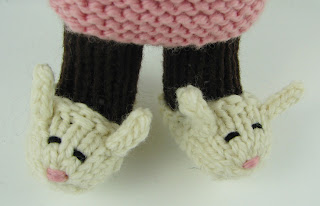 knit bunny slippers