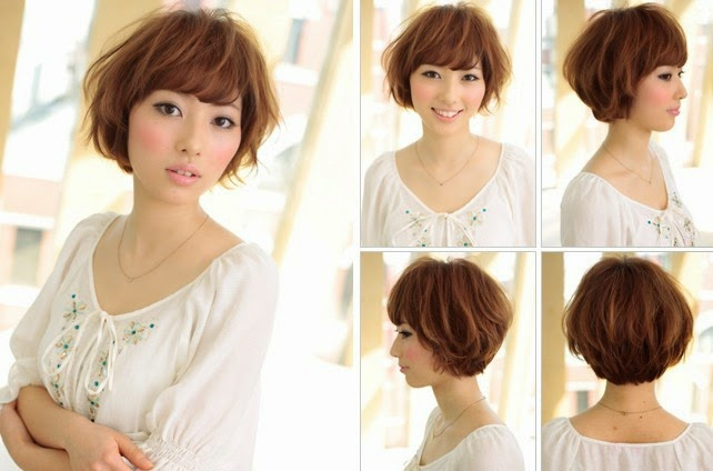 kreasi menata rambut pendek model rambut jepang