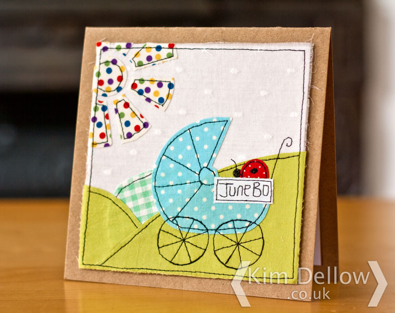 Faux Free-motion machine embroidery card