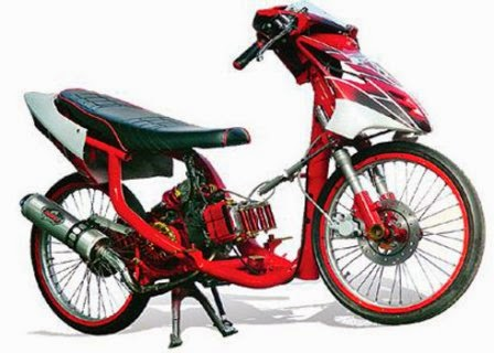 Modifikasi Motor Drag Mio Sporty Tembus 150 CC