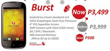 cherry mobile burst, cherry mobile