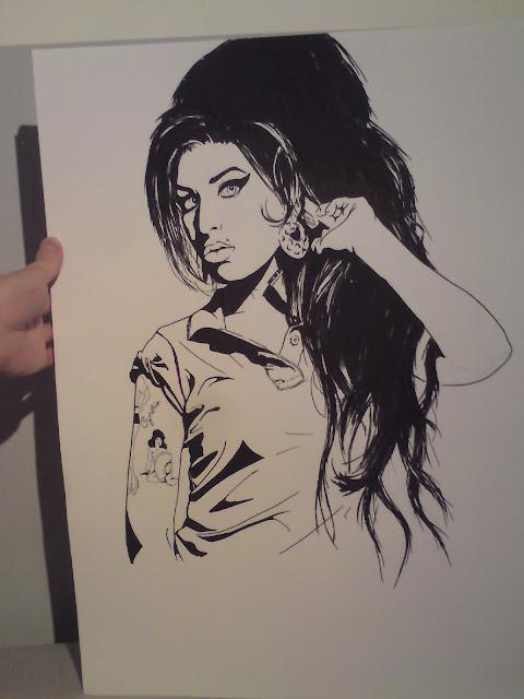 Sketch: Amy Winehouse