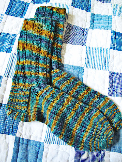 Running Horses Hand Knitted Cable Socks by Beth Hemmila of Hint Jewelry