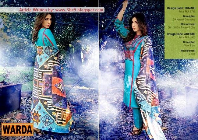 Warda Shawl Collection 2015-2015