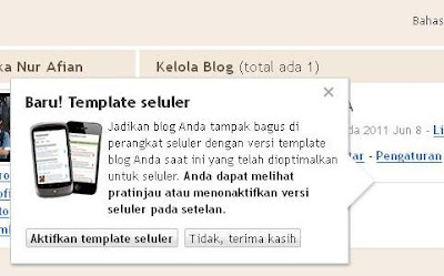 Blogger Hadir Dengan Template Seluler