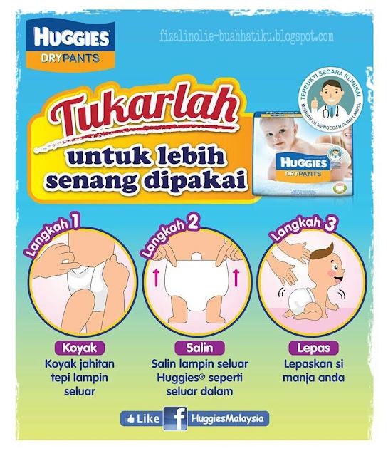 pandangan terhadap huggies dry pants, kebaikan huggies dry pants, lampin paling sesuai untuk bayi, lampin terbaik,