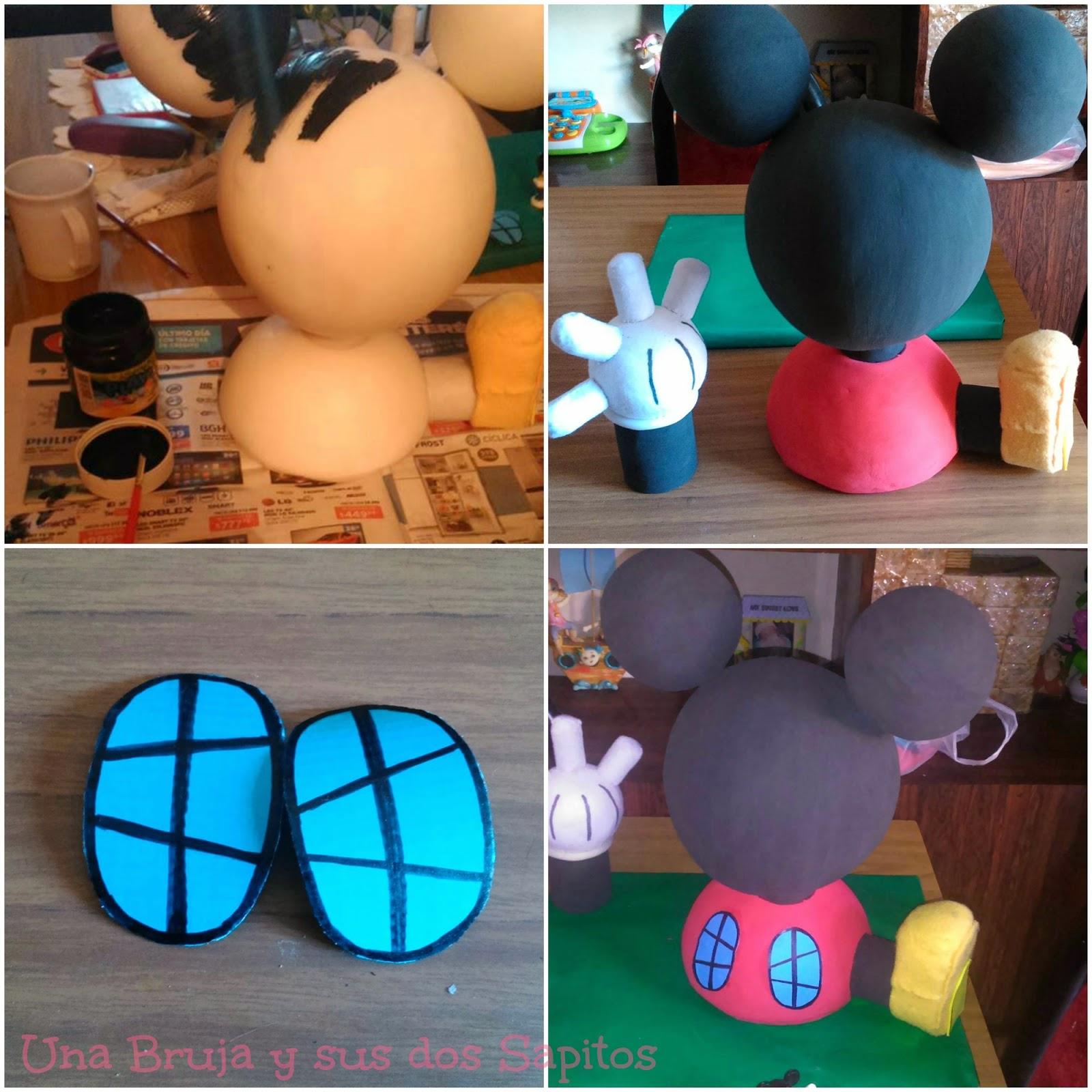 Una Bruja y sus dos Sapitos: DIY: La Casa de Mickey Mouse