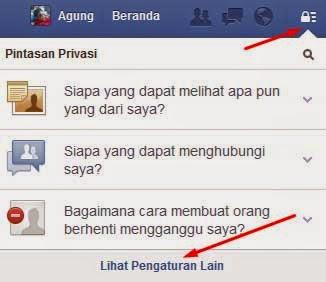 Cara Menghentikan pemberitahuan sms facebook langkah 1