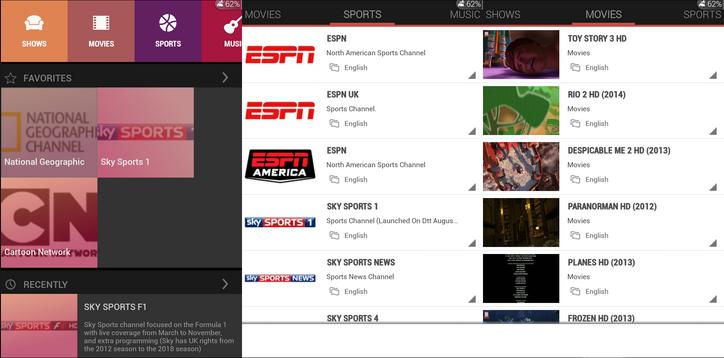 Multiscreen TV