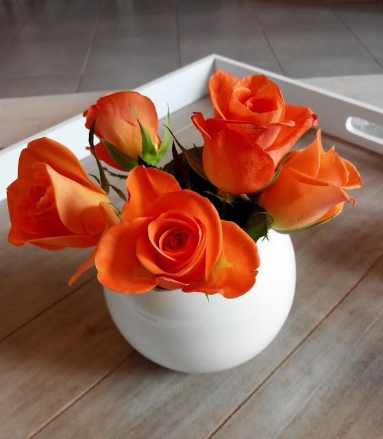 rose, bouquet, orange, bullelodie