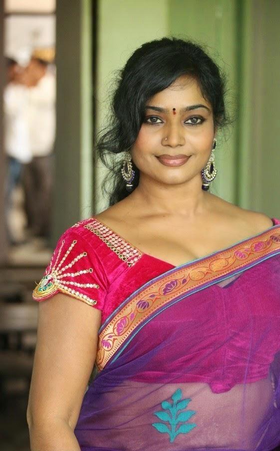 Actress Jayavani hot in transparent saree gallery - Cinema ...