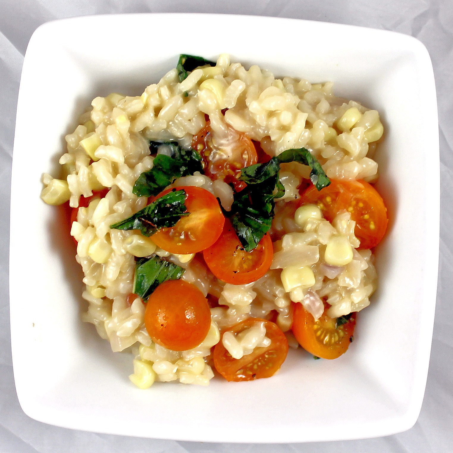 corn risotto risotto with corn tomato es basil and sun dried tomato ...