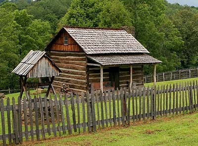 An old homestead in Watters Smith State Park in Harrison County West Virginia