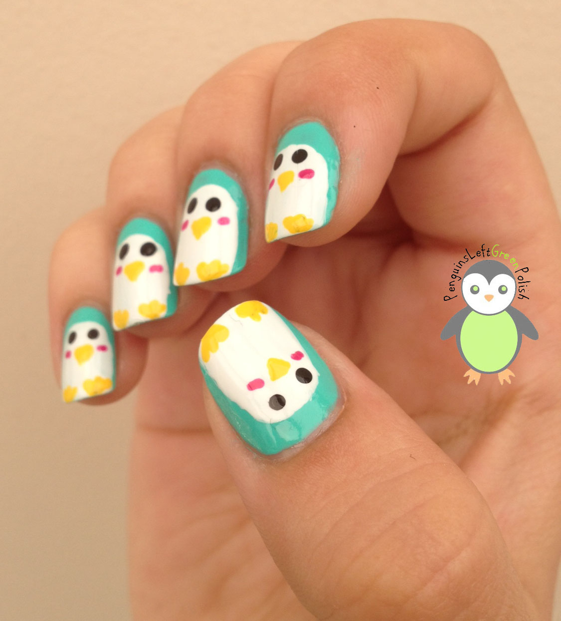 Penguin Nail Art Designs: Crochet Penguin Nail Art!