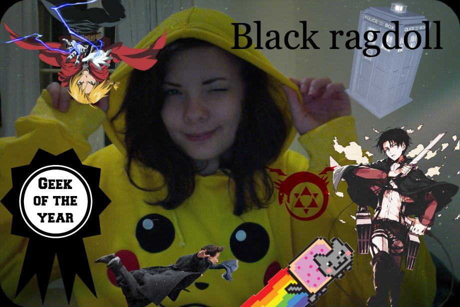 Black ragdoll