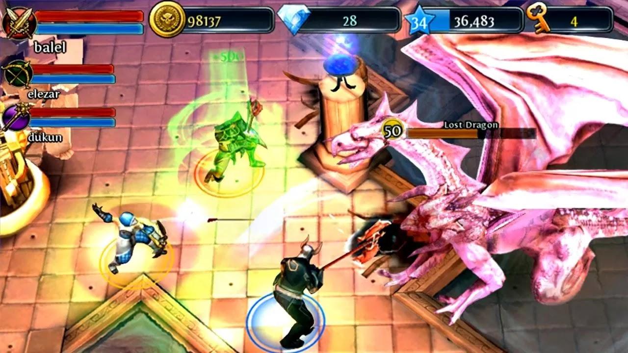 dungeon hunter 3 mod (unlimited gold & diamond) v1.5.0 apk