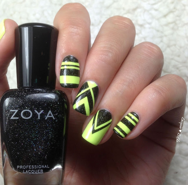 SuperKart Nails VM Motors with Zoya Storm and Key Lime Twist Orly