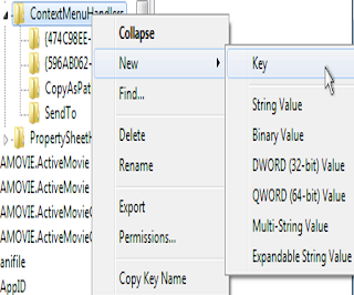 How to add new key to registry