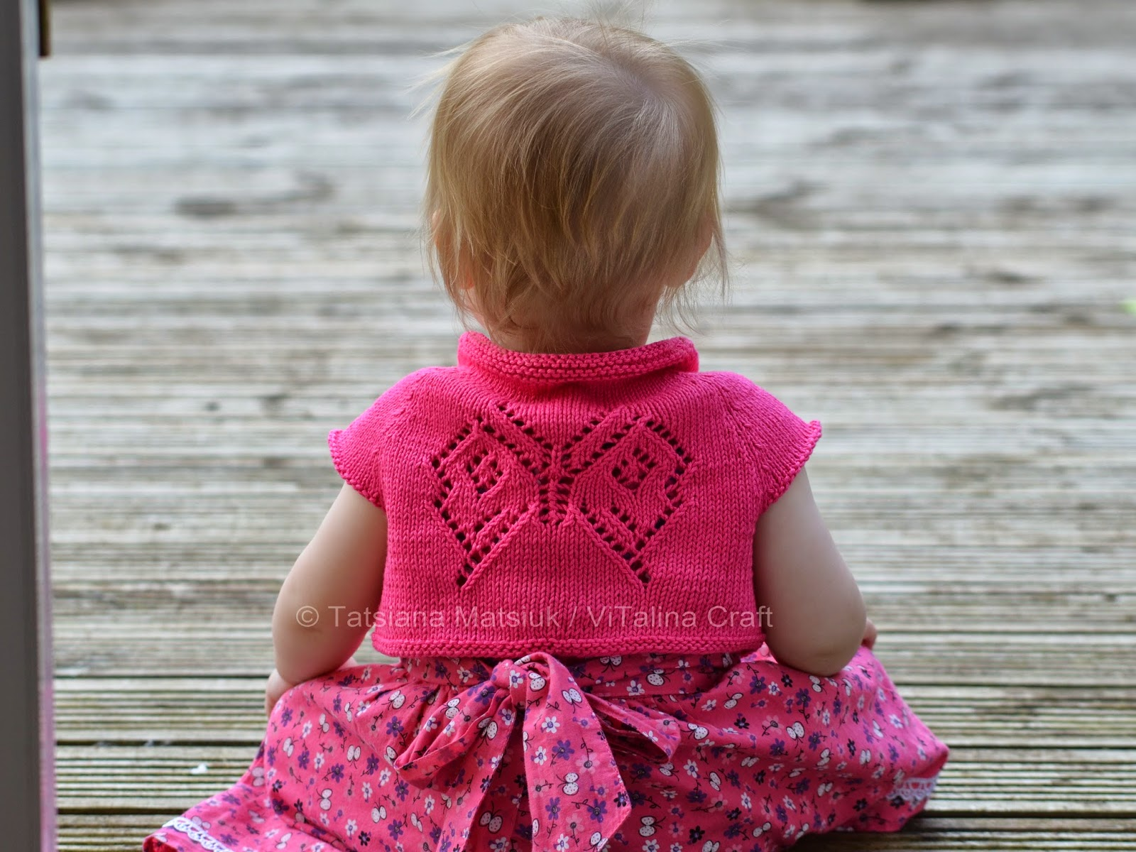 Papillon Bolero Knitting Pattern | ViTalina Craft