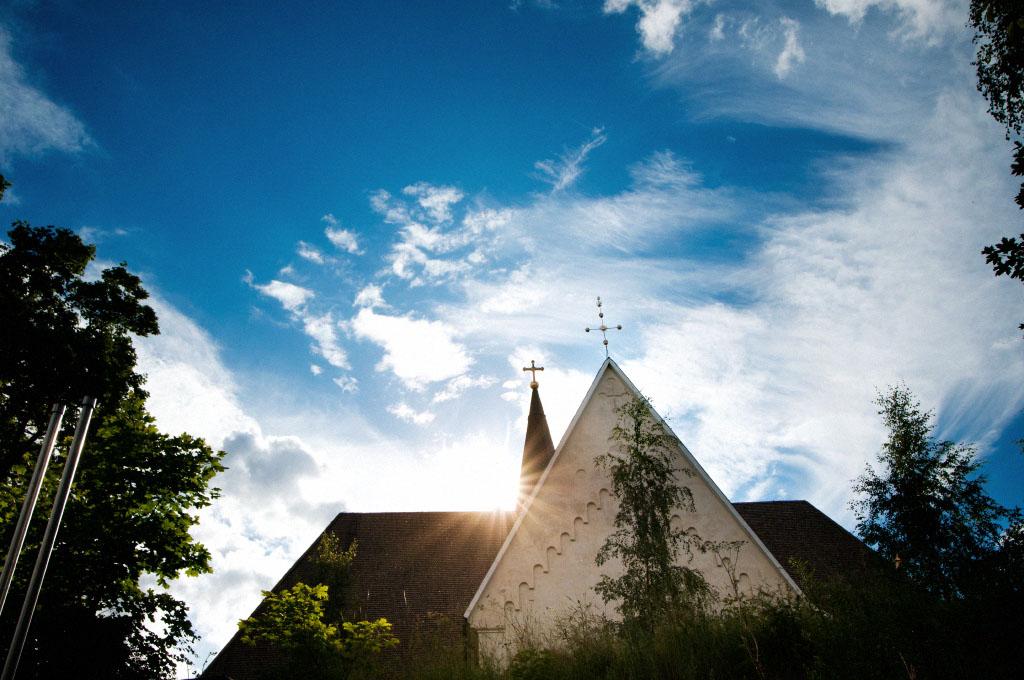 Vigsel i Svärdsjö kyrka utanför Falun