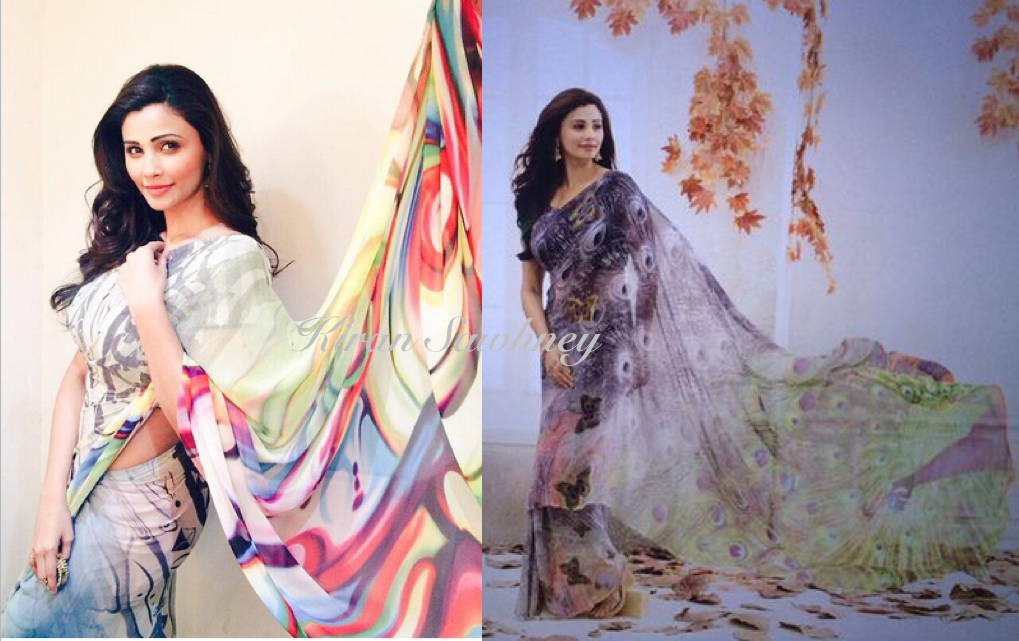 Daisy Shah in a sari- 2 looks from her shoot