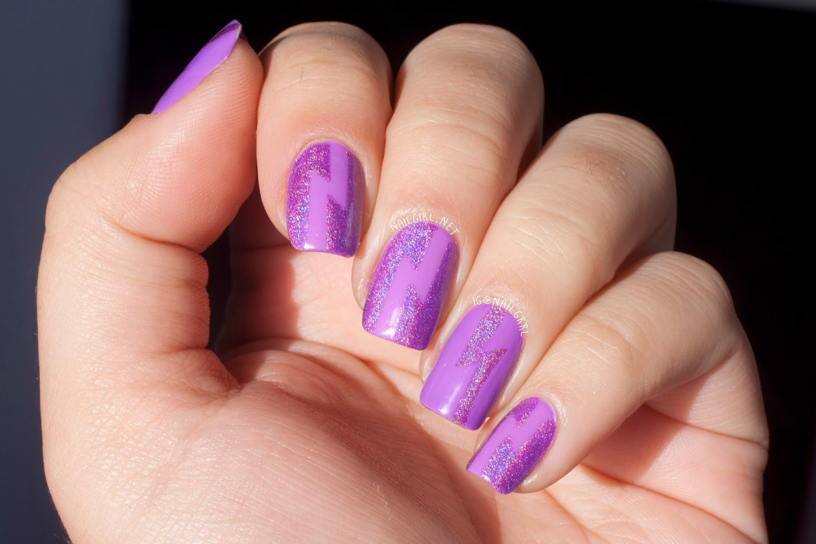 Nail Art Lightning Bolts With Colors By Llarowe China Glaze