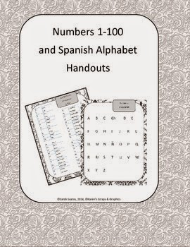 http://www.teacherspayteachers.com/Product/FREE-Los-Numeros-y-El-Alfabeto-Spanish-Numbers-and-Alphabet-Handouts-1098479
