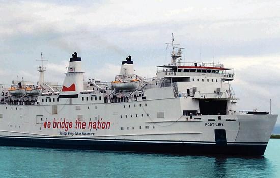 Kapal Ferry Merak - Bakauheni Portlink
