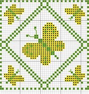 Бискорню схемы вышивки крестом бабочки