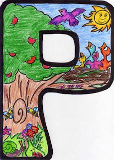 Cosillas de infantil letras de primavera - Letras decoradas infantiles ...
