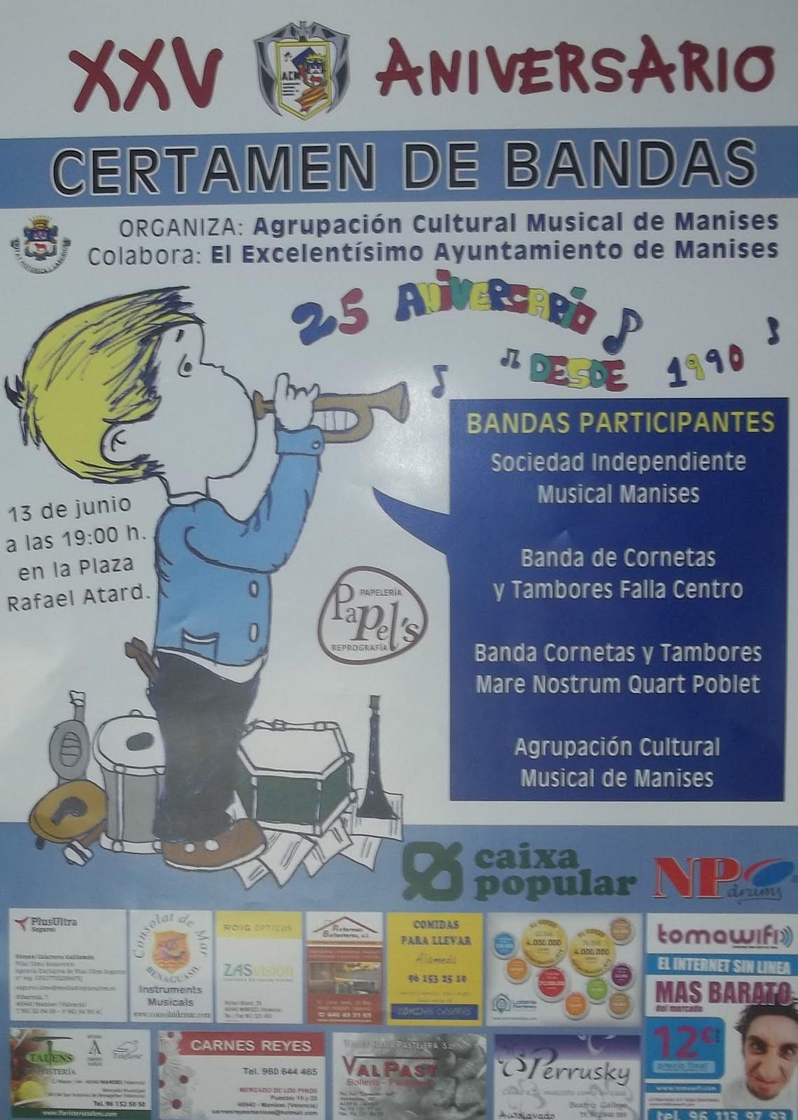 13.06.15 XXV ANIVERSARIO DEL CERTAMEN DE BANDAS