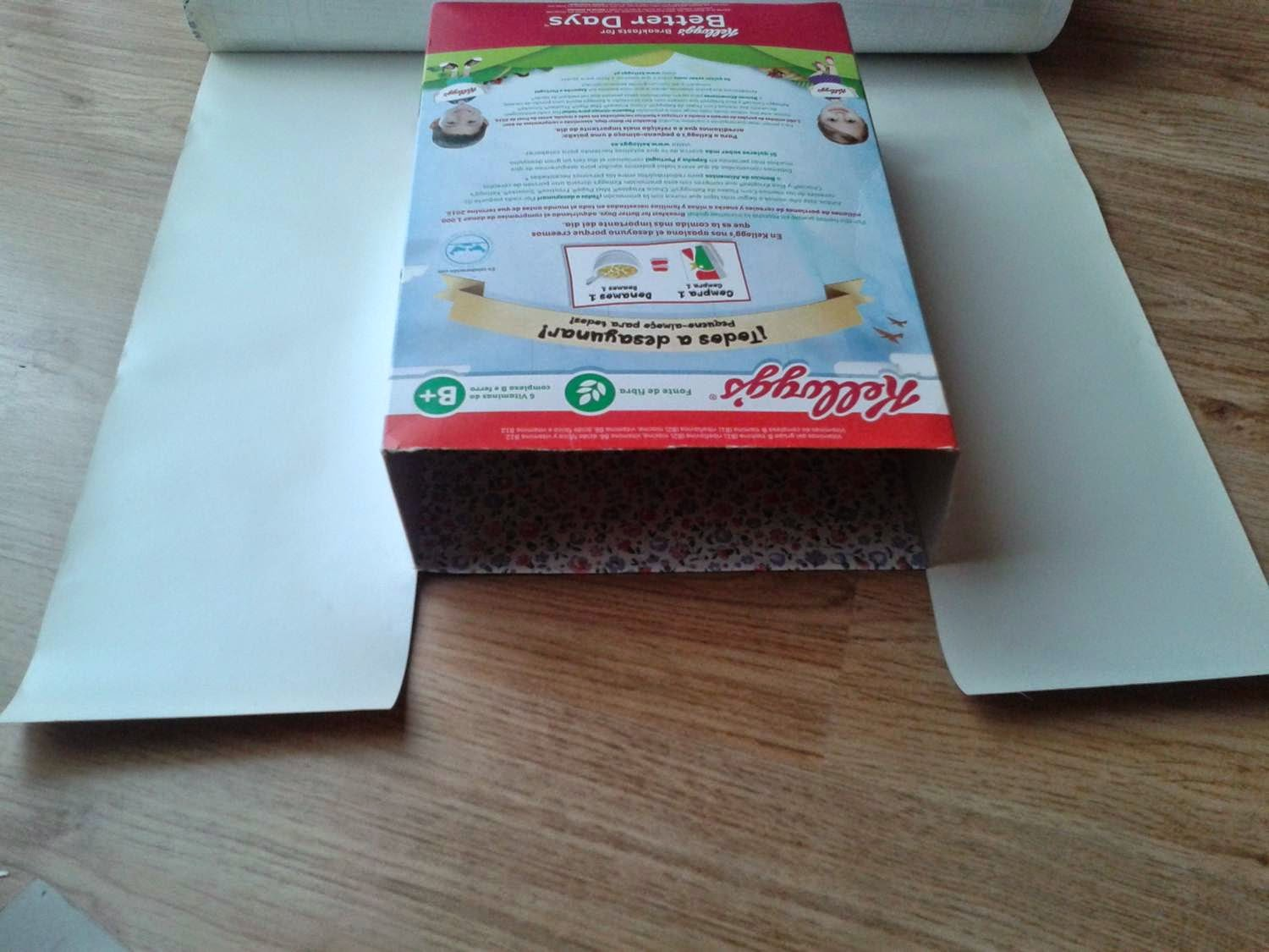 upcycle, cereal box upcycle, cereal box to gift bag