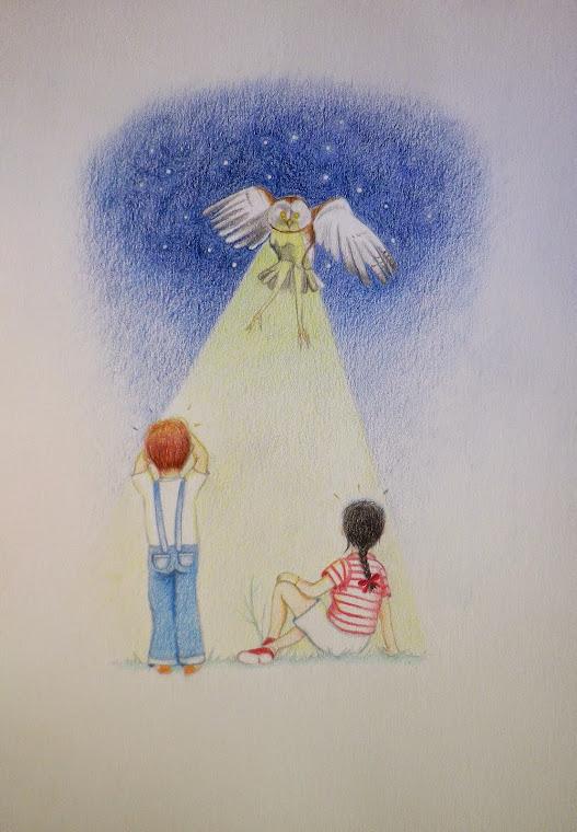 María la lechuza iluminando el camino.