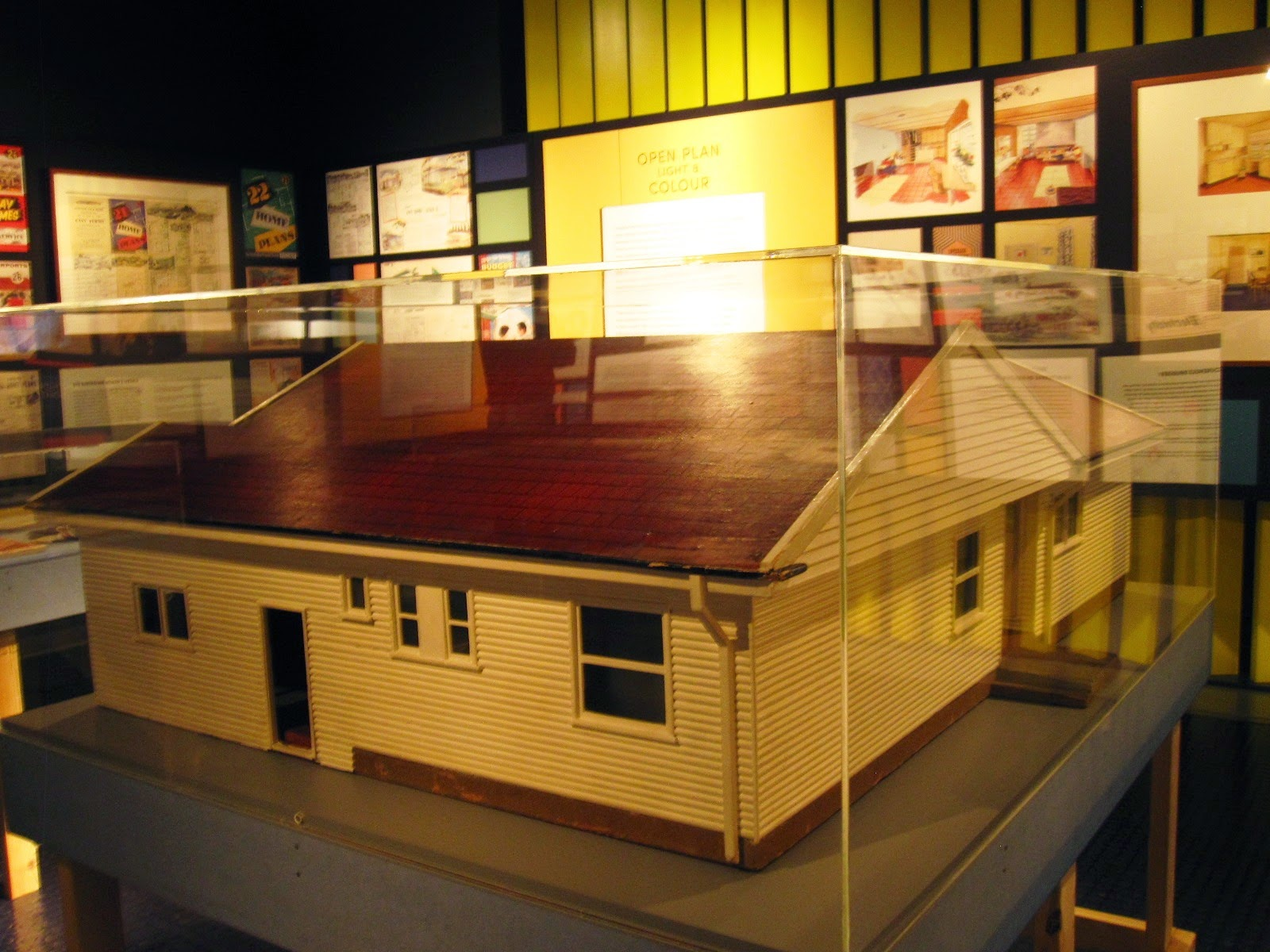 Side and rear view of a model house in the exhibition 'Dream Home Small Home'