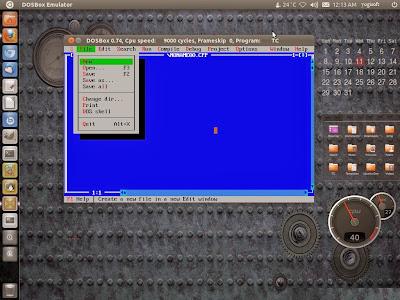 turbo c ubuntu,linux using dosbox