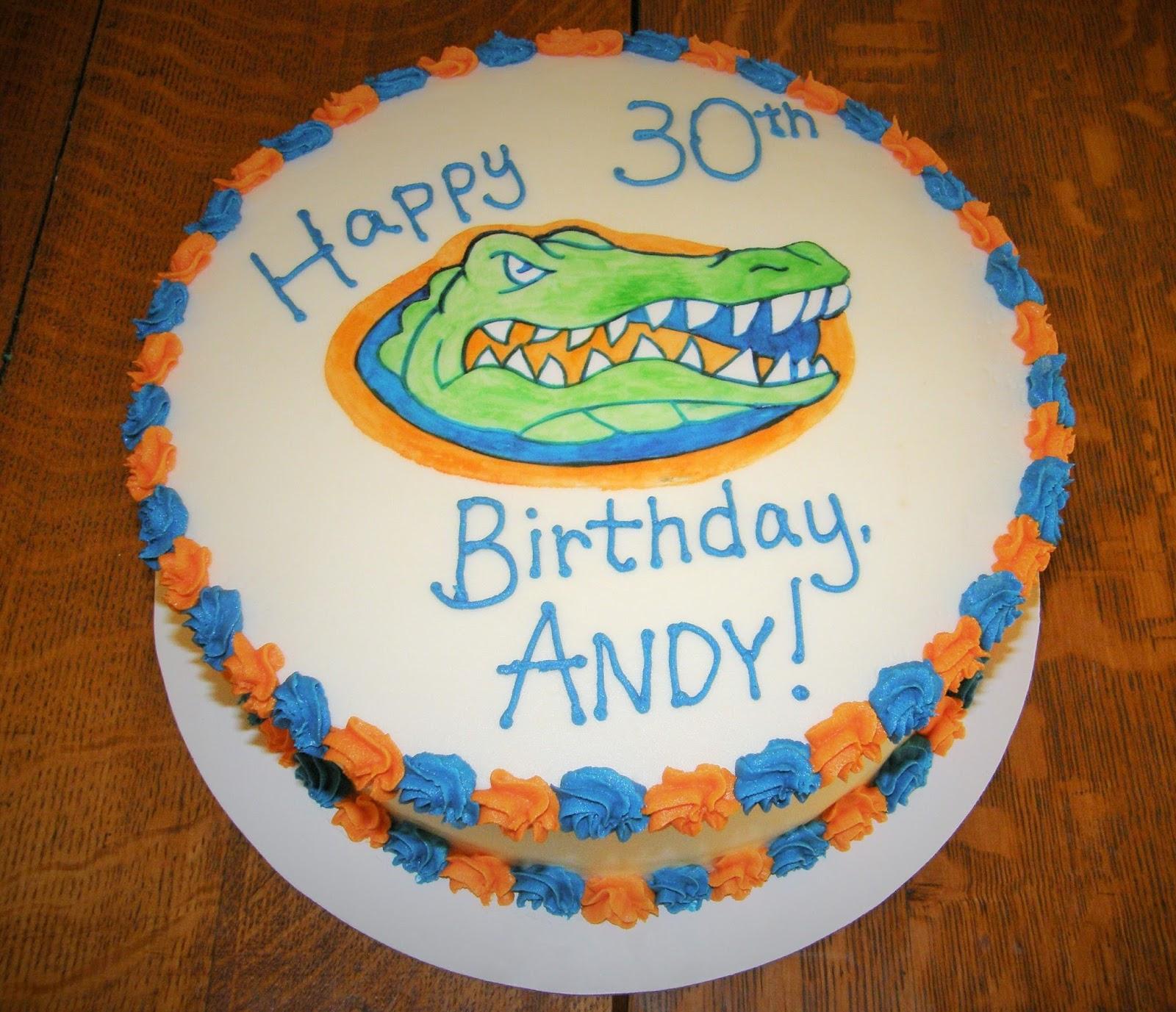 Mrs Lydias Kitchen Gator Logo Birthday Cake