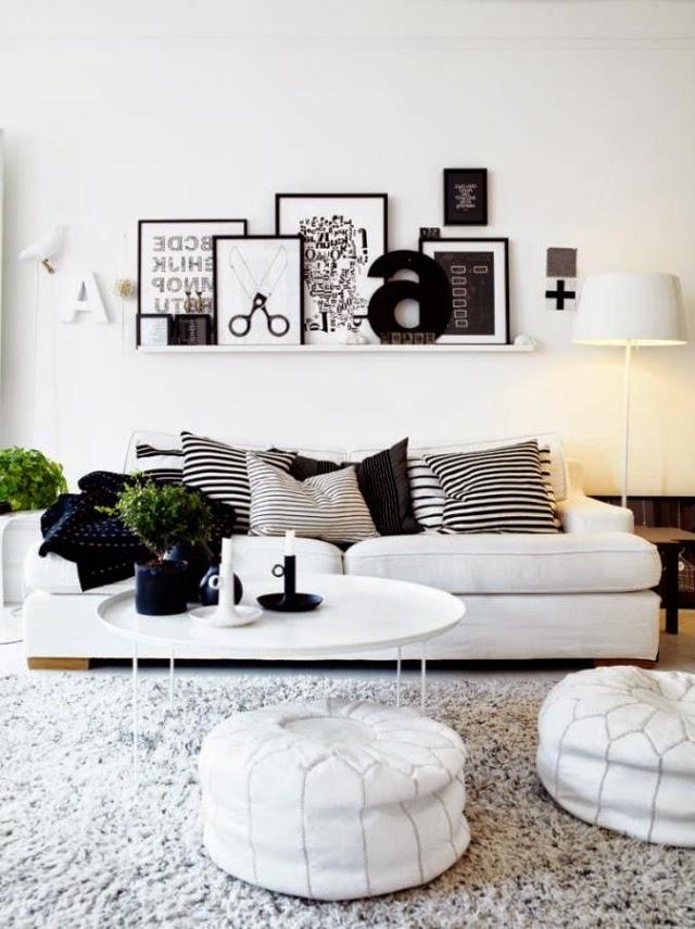 Lindas salas en color gris y blanco colores en casa for Sala color gris