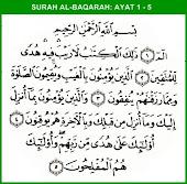 Surah al-Baqarah ayat 1-5
